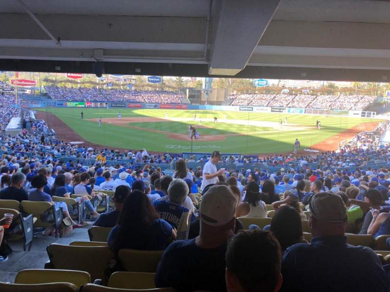 Seating view for Dodger Stadium Section 2DL Row DR Seat 1