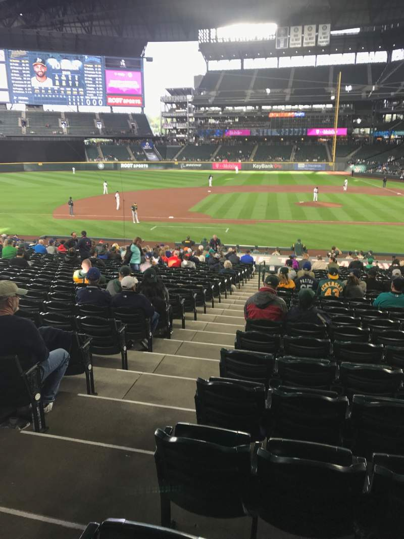 Seating view for T-Mobile Park Section 138 Row 26  Seat 10