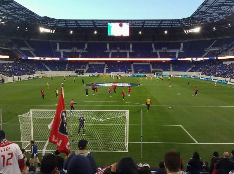 Seating view for Red Bull Arena Section 101 Row 11 Seat 8