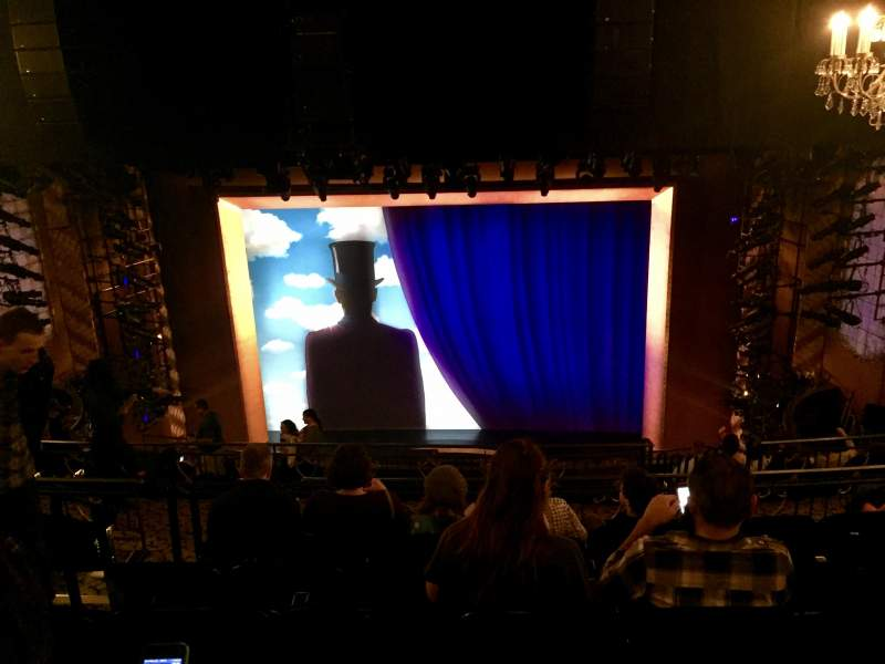 Seating view for Lunt-Fontanne Theatre Section Rear Mezzanine RC Row G Seat 108
