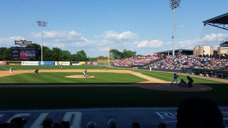 Seating view for Fluor Field Section 105 Row J Seat 11