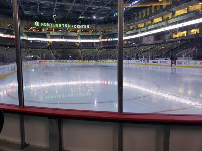 Seating view for Huntington Center Section 113 Row B Seat 7