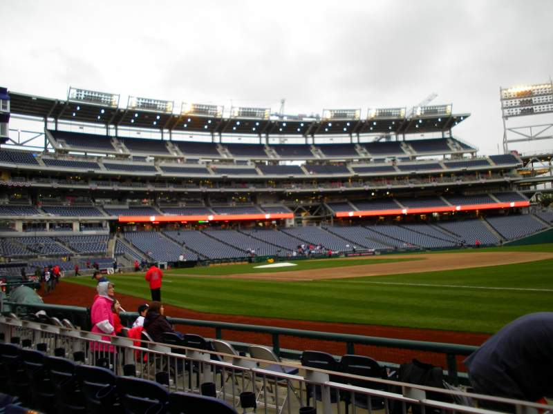 Seating view for Nationals Park Section 133 Row F Seat 4