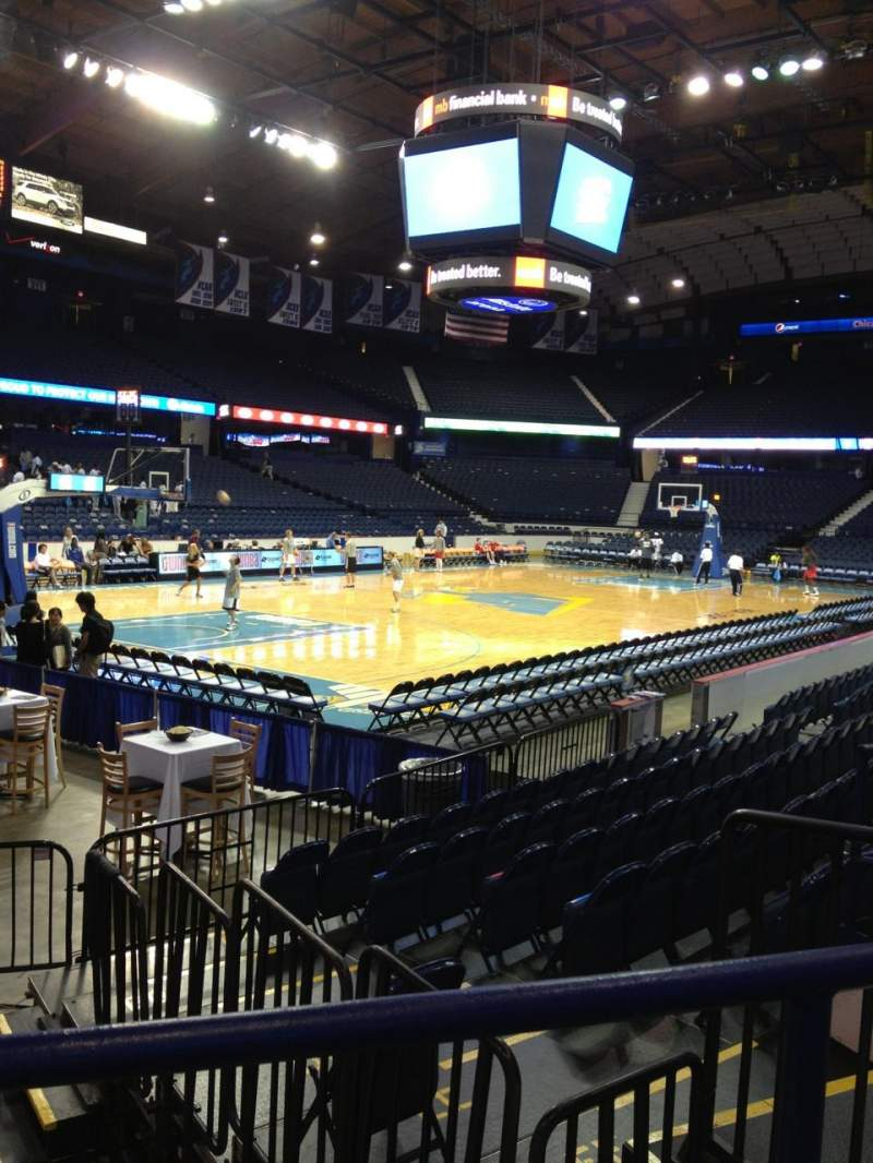 Seating view for Allstate Arena Section 105 Row E Seat 5