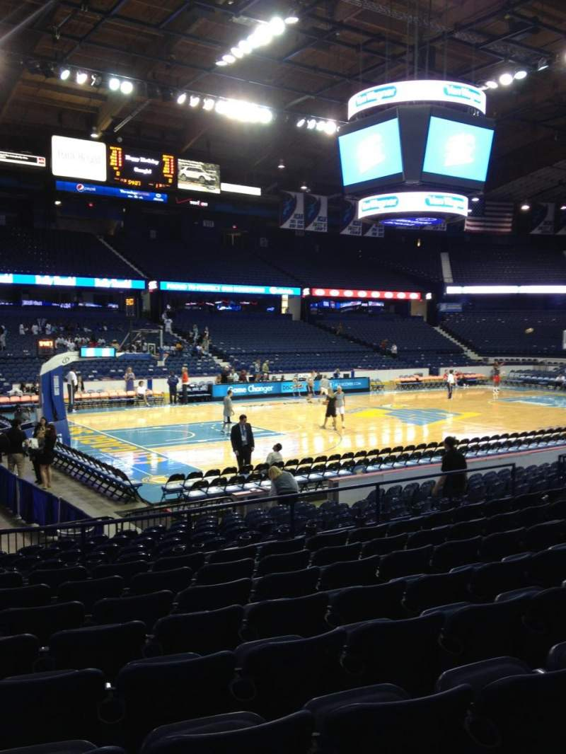 Seating view for Allstate Arena Section 104 Row J Seat 17