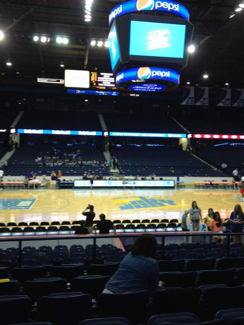 Seating view for Allstate Arena Section 103 Row G Seat 11