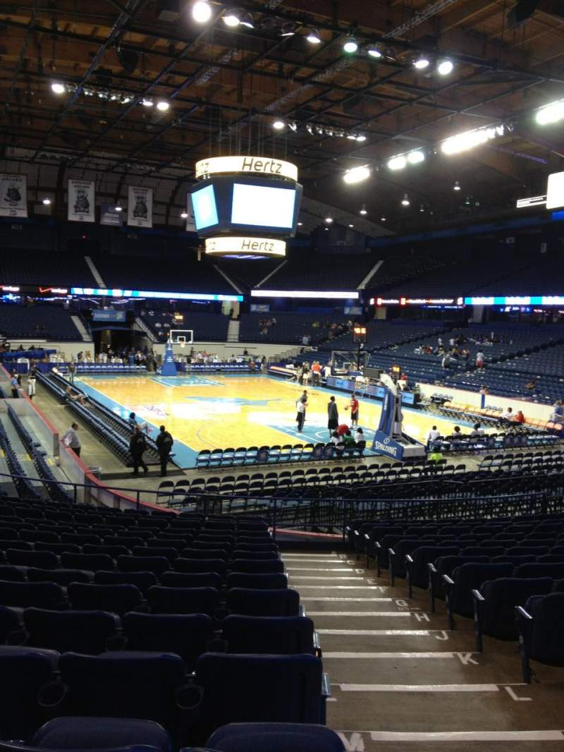 Seating view for Allstate Arena Section 116 Row Q Seat 1