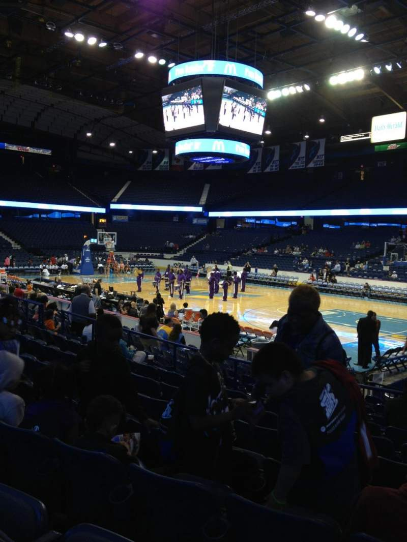 Seating view for Allstate Arena Section 109 Row H Seat 3