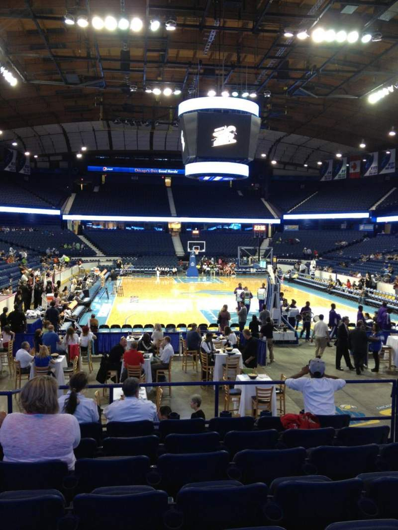 Seating view for Allstate Arena Section 107 Row K Seat 5