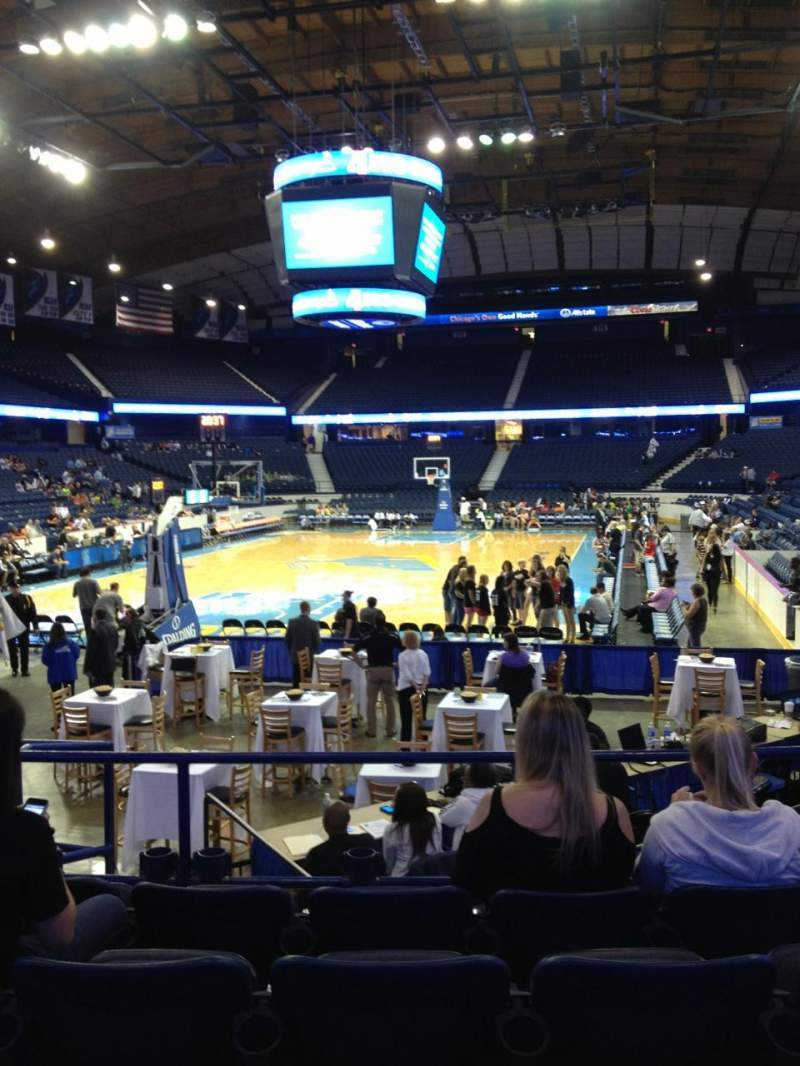 Seating view for Allstate Arena Section 106 Row H Seat 6