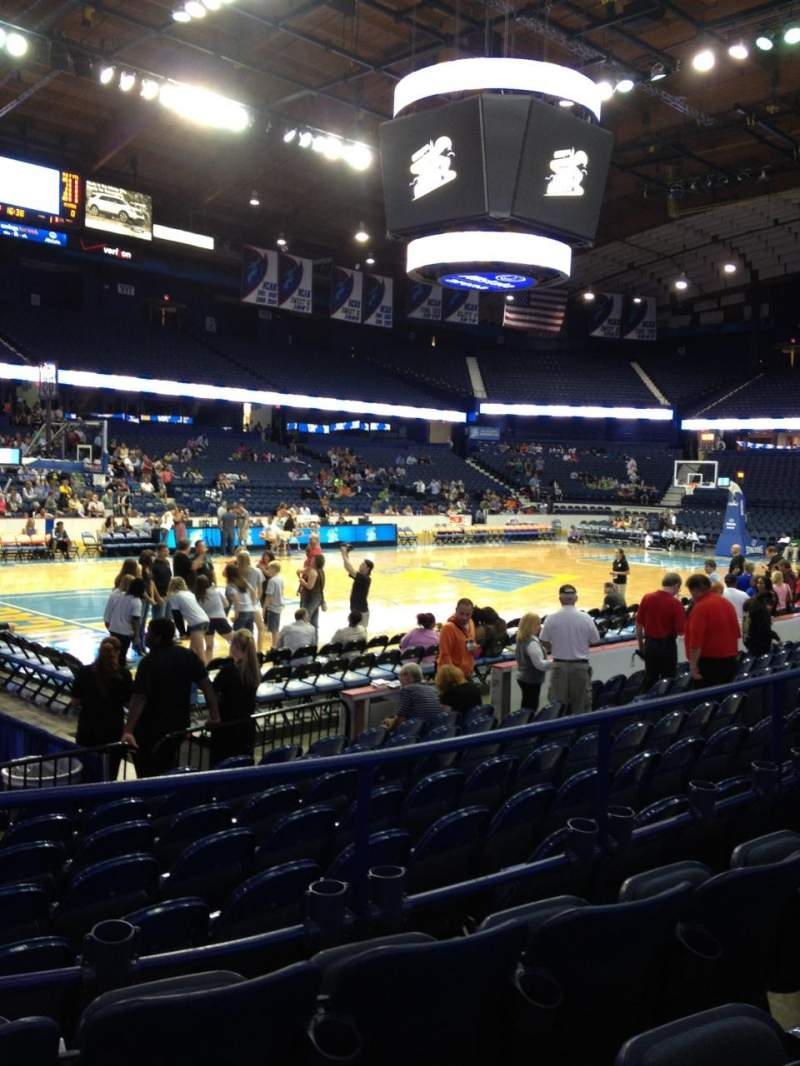 Seating view for Allstate Arena Section 104 Row D Seat 17