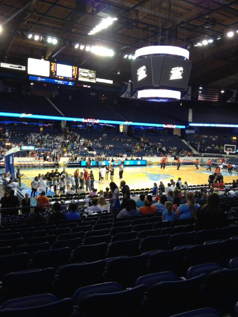 Seating view for Allstate Arena Section 104 Row N Seat 14