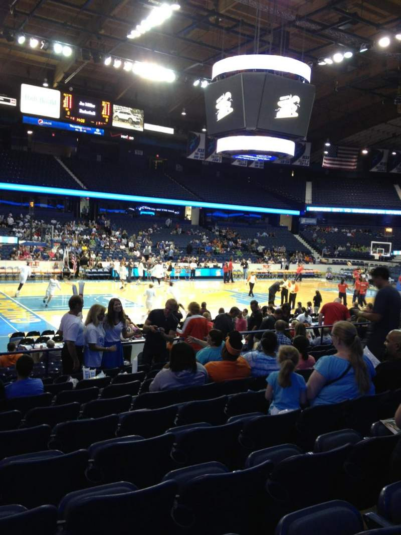 Seating view for Allstate Arena Section 104 Row K Seat 10