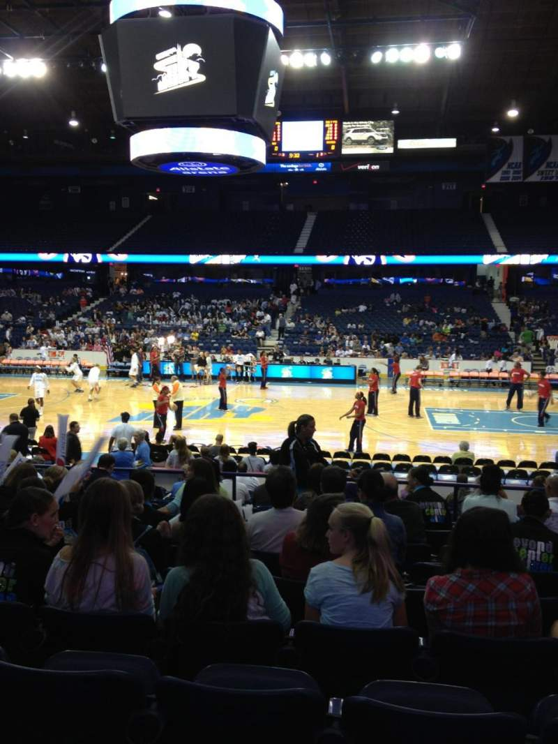Seating view for Allstate Arena Section 102 Row K Seat 16