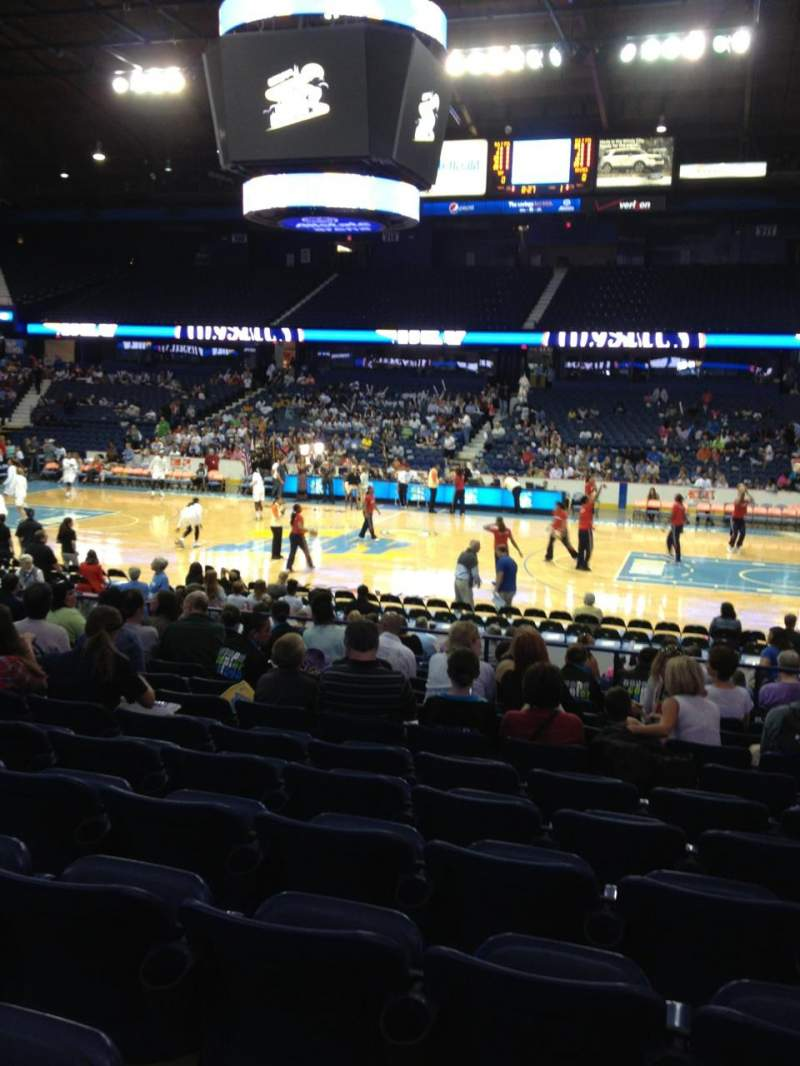 Seating view for Allstate Arena Section 102 Row M Seat 8