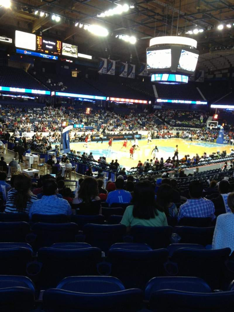 Seating view for Allstate Arena Section 105 Row P Seat 6
