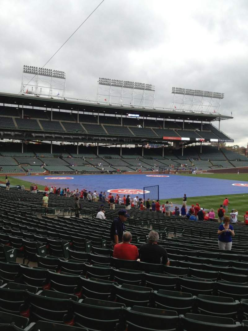 Seating view for Wrigley Field Section 237 Row 1 Seat 4