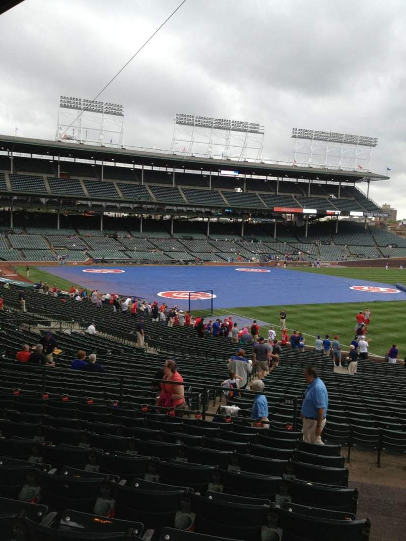 Seating view for Wrigley Field Section 239 Row 10 Seat 101