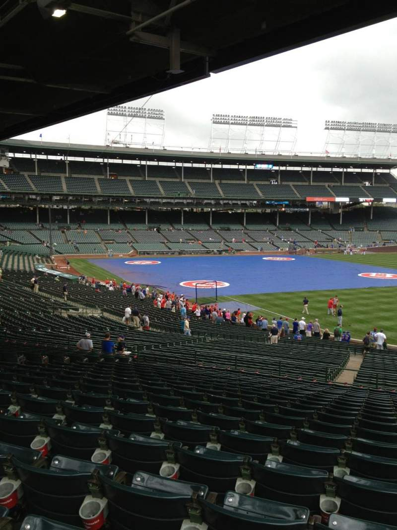 Seating view for Wrigley Field Section 240 Row 19 Seat 108