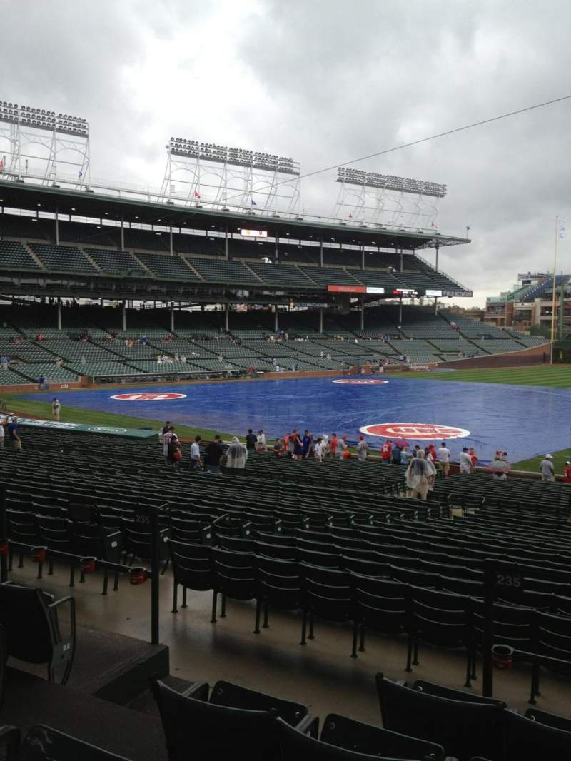 Seating view for Wrigley Field Section 235 Row 5 Seat 4