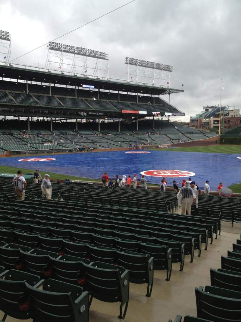 Seating view for Wrigley Field Section 134 Row 14 Seat 2