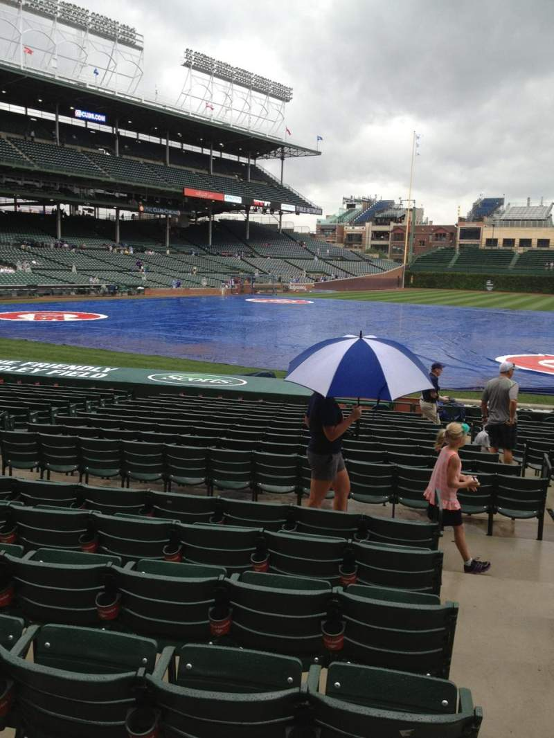 Seating view for Wrigley Field Section 125 Row 7 Seat 18