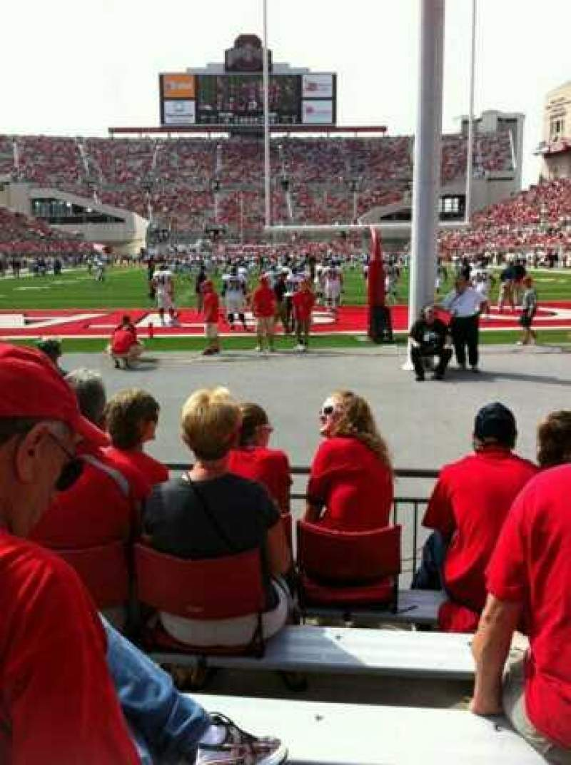 Seating view for Ohio Stadium Section 4AA Row 6 Seat 3 and 4