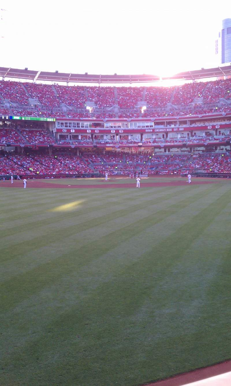 Seating view for Great American Ball Park Section 102 Row A Seat 20