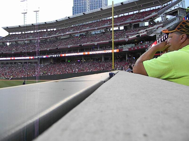 Great American Ball Park, section: 102, row: A, seat: 20