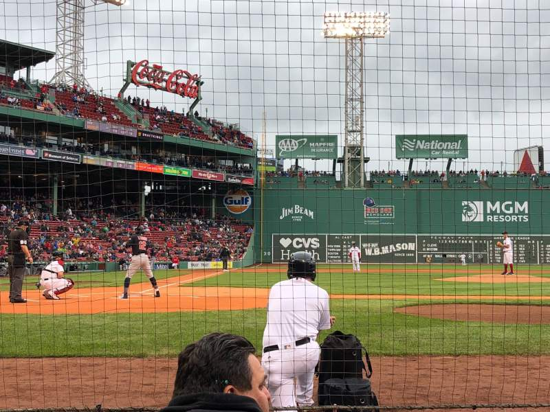 Seating view for Fenway Park Section Field Box 35 Row AAA Seat 4