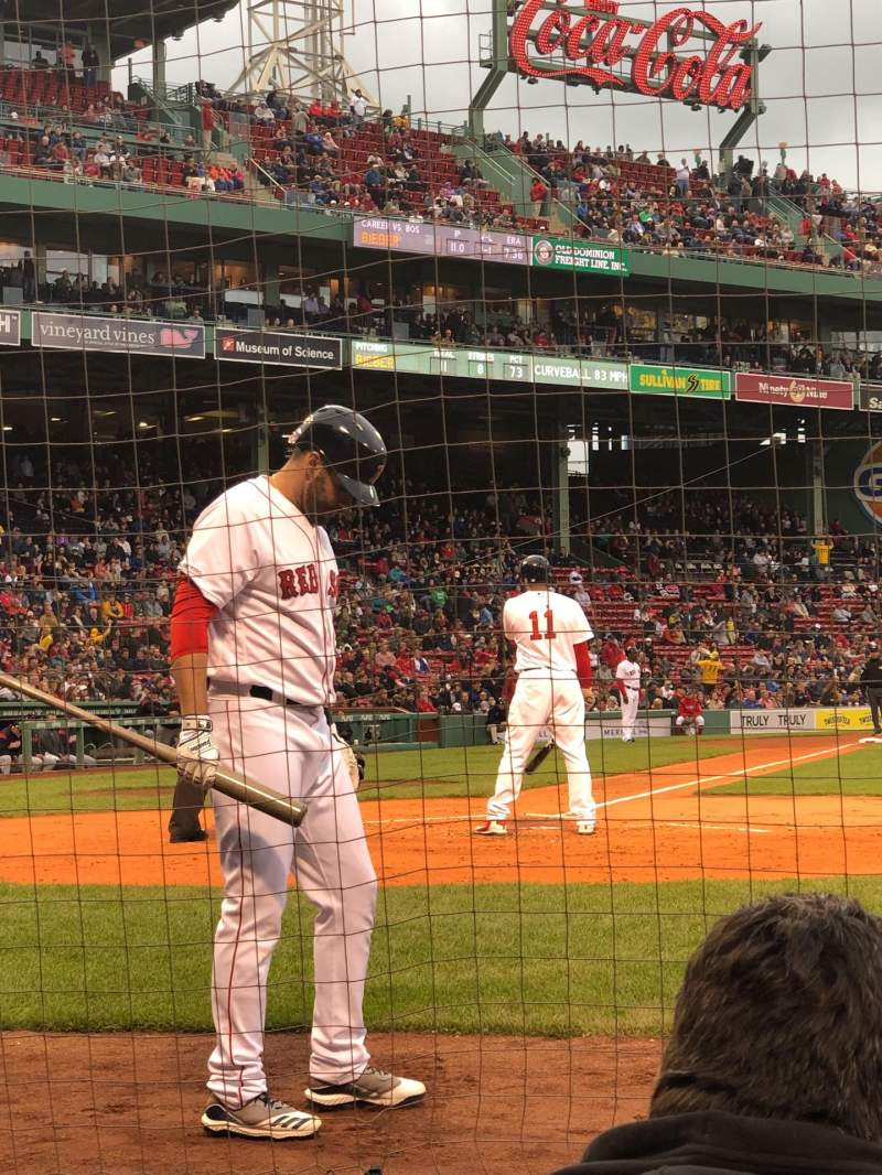 Seating view for Fenway Park Section Field Box 36 Row AAA Seat 4