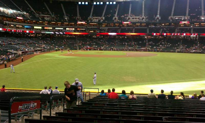 Seating view for Chase Field Section 103 Row 34