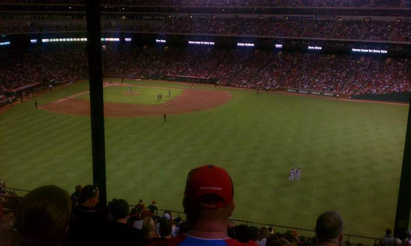 Seating view for Globe Life Park in Arlington Section 242 Row 9 Seat 6
