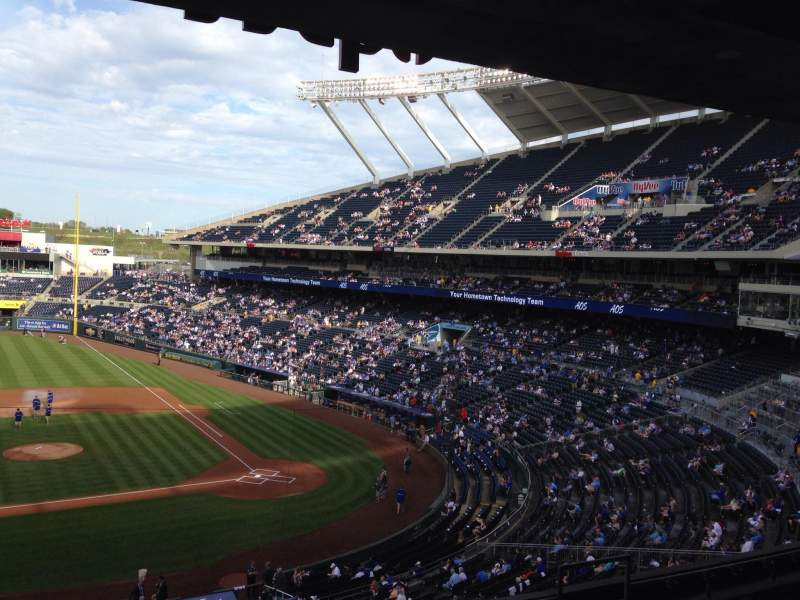 Seating view for Kauffman Stadium Section 308 Row F Seat 3