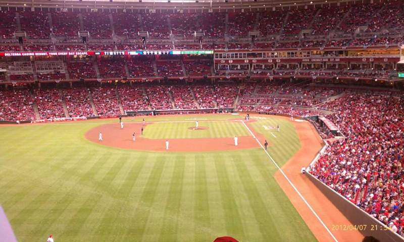 Seating view for Great American Ball Park Section 406 Seat 15
