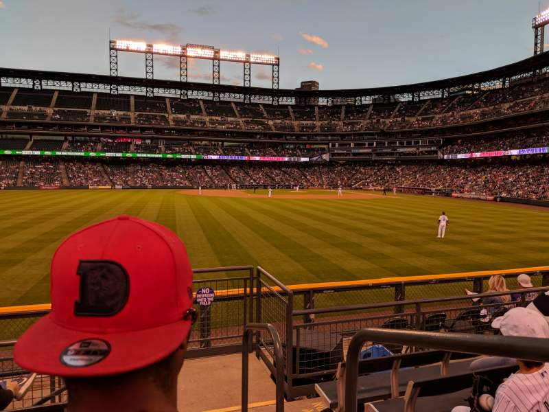Seating view for Coors Field Section 155 Row 6 Seat 1