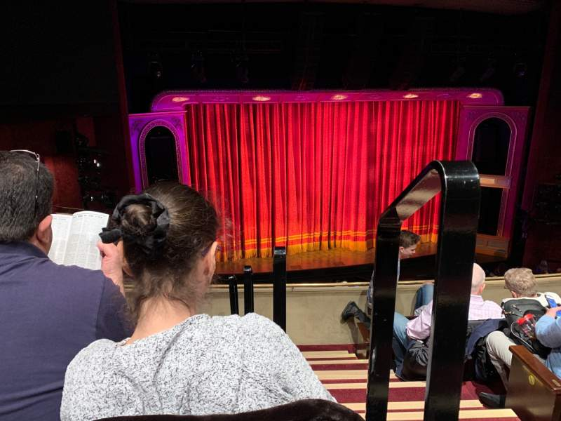 Seating view for Marquis Theatre Section Mezzanine L Row E Seat 1