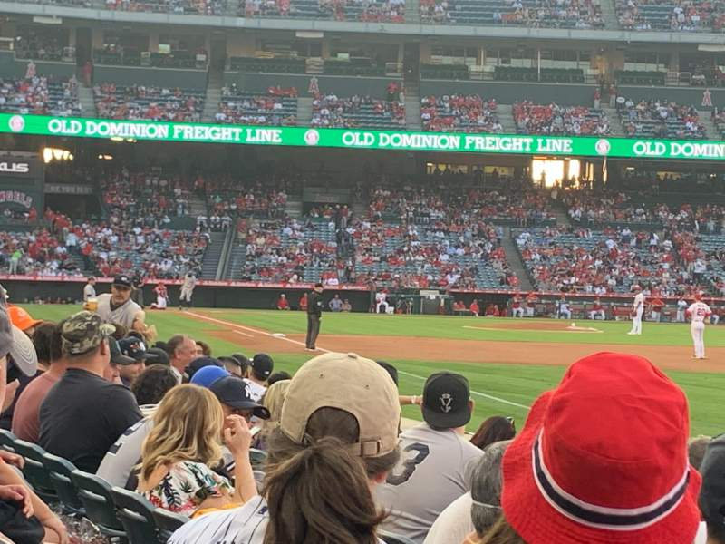 Seating view for Angel Stadium Section 131 Row F Seat 2
