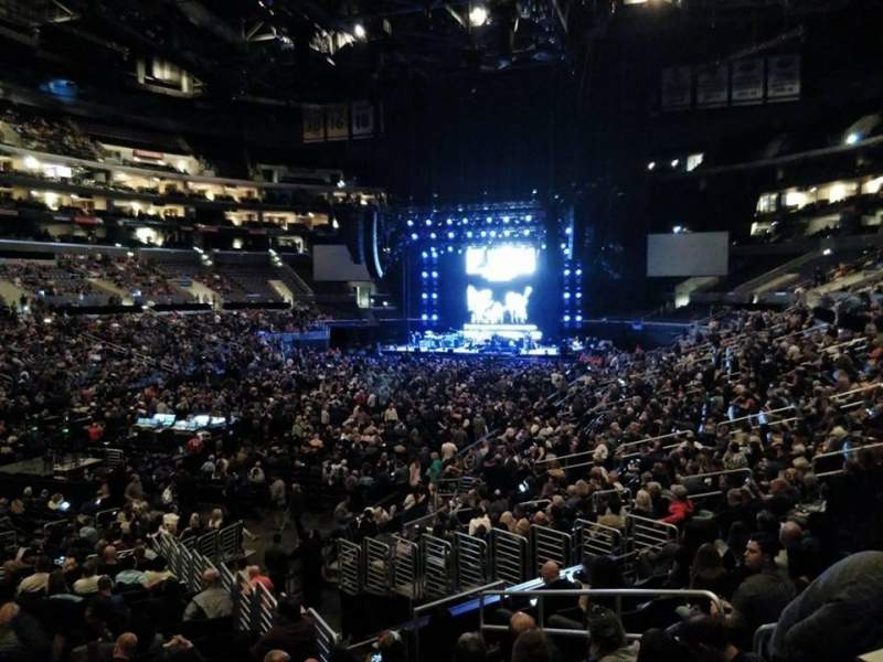 Staples Center, section: 205, row: 1, seat: 3