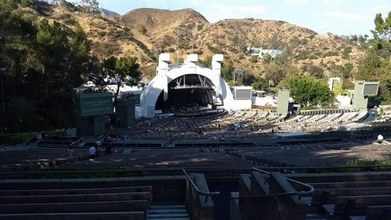 Seating view for Hollywood Bowl Section U3 Row 9 Seat 1