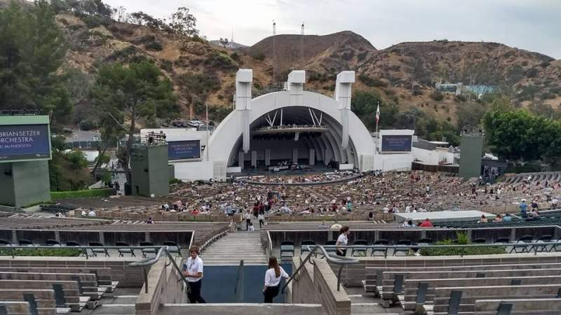 Seating view for Hollywood Bowl Section P1 Row 9 Seat 2