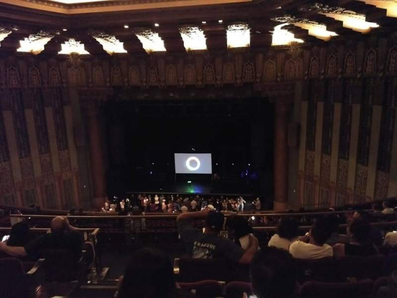 Seating view for The Wiltern Section Mezz Center Right Row F Seat 104