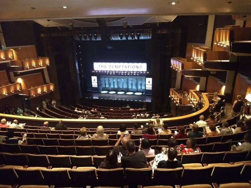Seating view for Ahmanson Theatre Section Mezzanine  Row N Seat 1