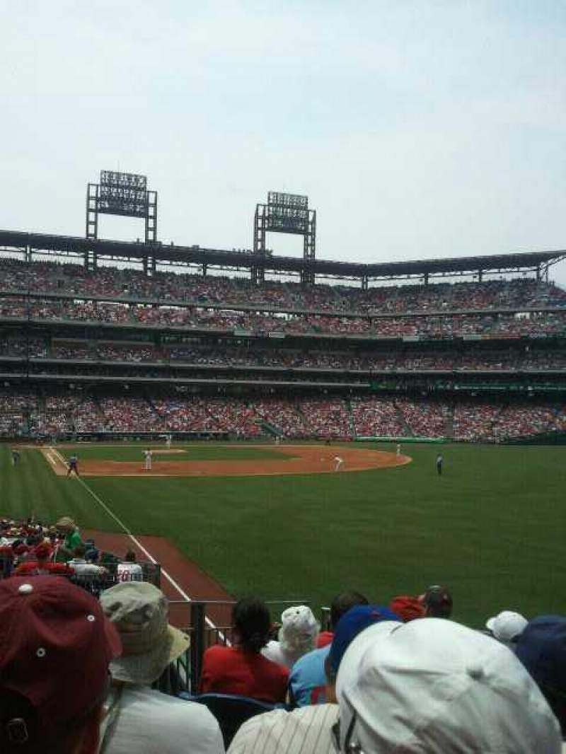 Seating view for Citizens Bank Park Section 107 Row 10 Seat 14
