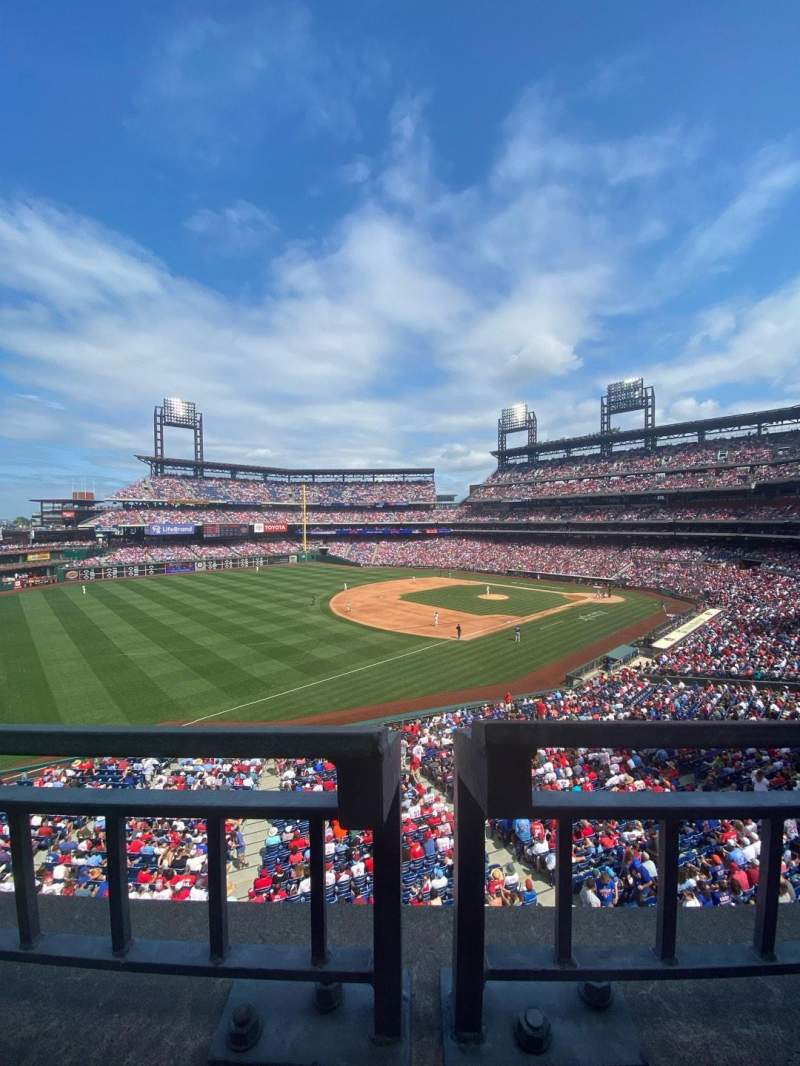 Seating view for Citizens Bank Park Section 234 Row 1 Seat 19