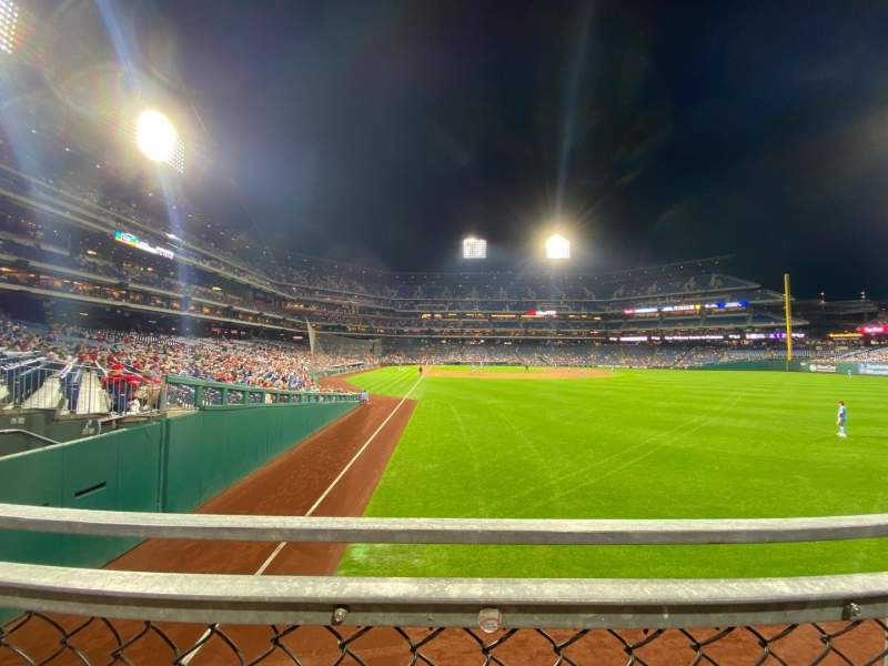Seating view for Citizens Bank Park Section 106 Row 1 Seat 17