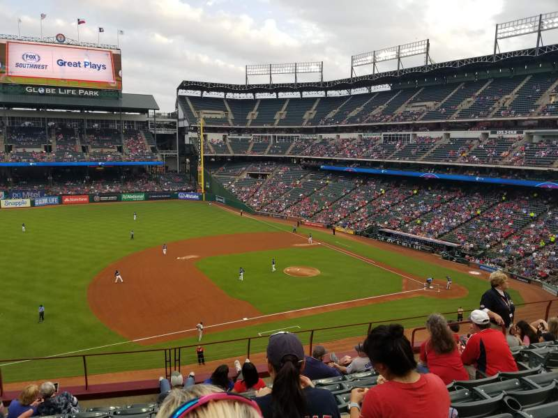 Seating view for Globe Life Park in Arlington Section 215 Row 8 Seat 7