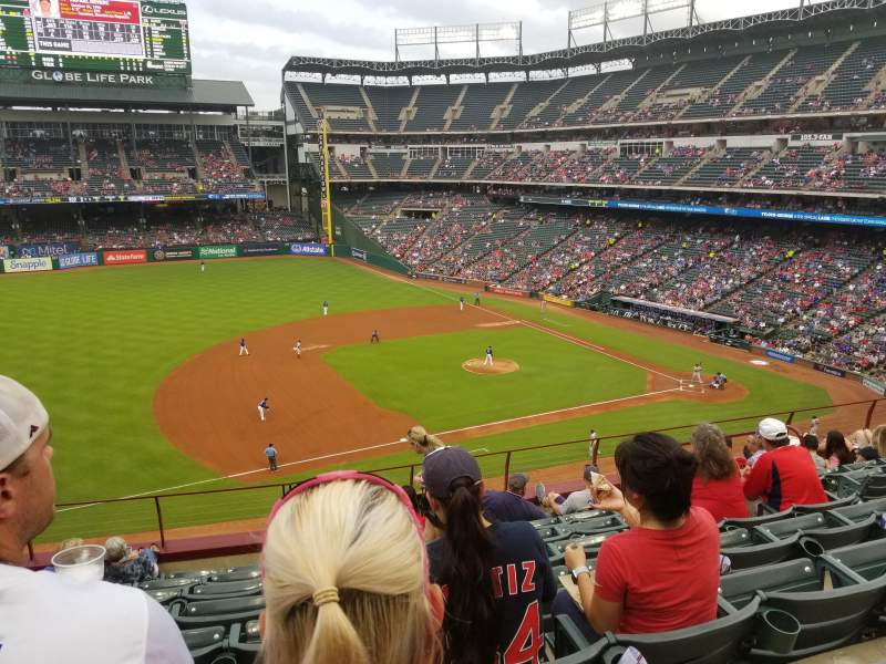 Seating view for Globe Life Park in Arlington Section 217 Row 8 Seat 7