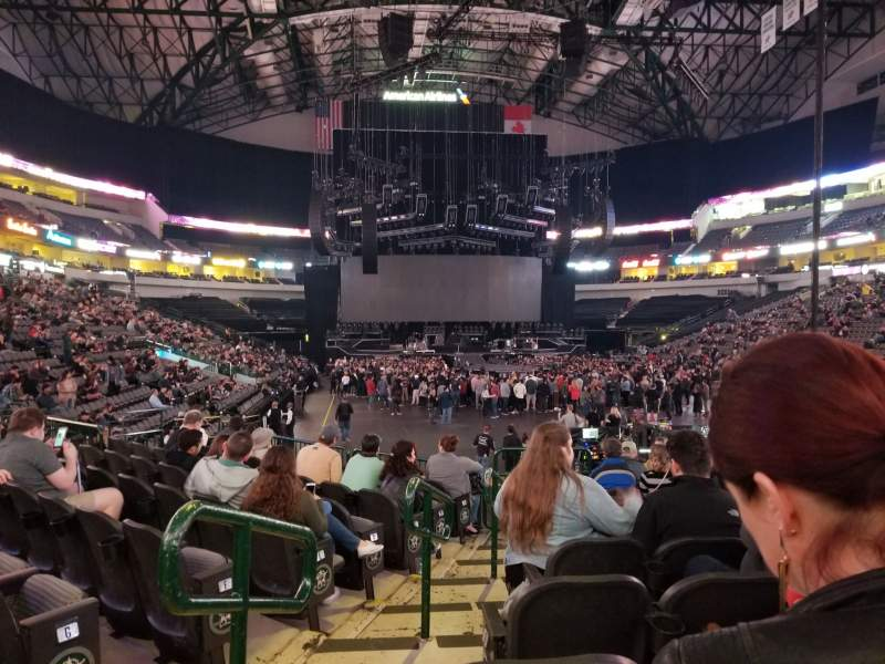 Seating view for American Airlines Center Section 113 Row K Seat 18