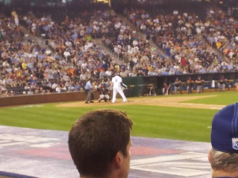 Seating view for Kauffman Stadium Section 139 Row C Seat 1